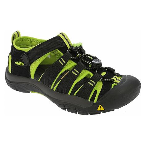 shoes Keen Newport H2 - Black /Lime Green