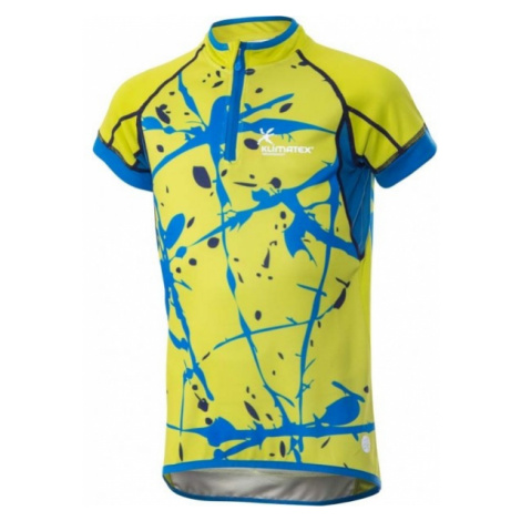 Klimatex JOPPE yellow - Kids' cycling jersey with a sublimation print