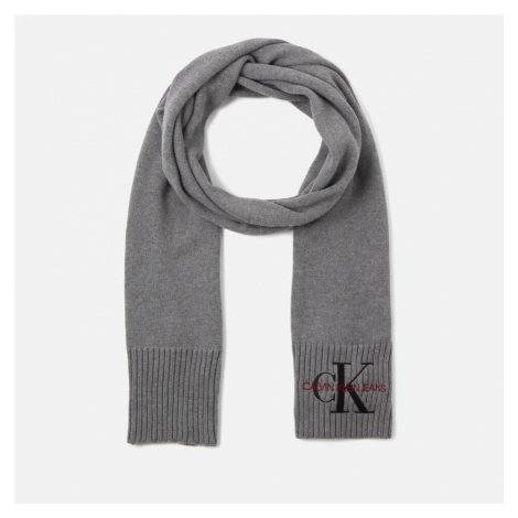 Calvin Klein Jeans Women's Basic Women Knitted Scarf - Mid Grey Heather