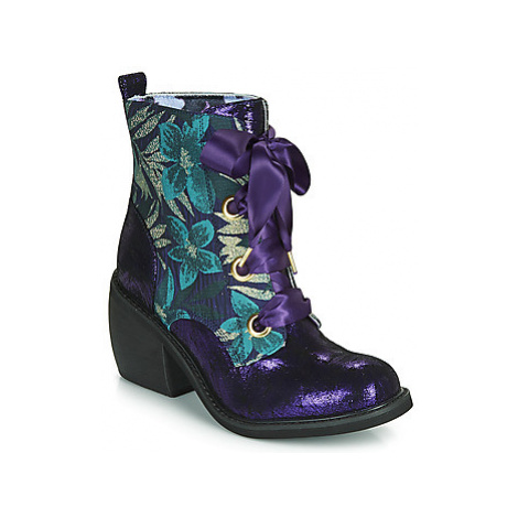 Irregular Choice QUICK GETAWAY women's Low Ankle Boots in Purple