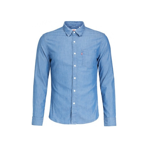 Levi's Sunset One Pocket Slim Fit Denim Shirt, Chambray Blue Levi´s