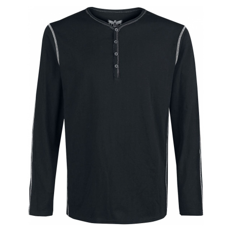 Black Premium by EMP Black long sleeve shirt with buttons and contrasting seams Long-sleeve Shir