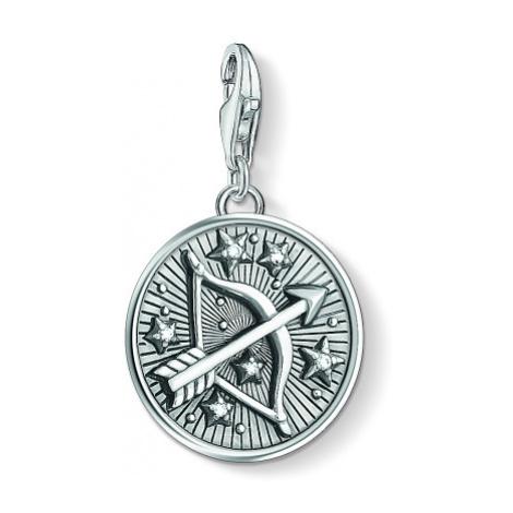 Ladies Thomas Sabo Sterling Silver Charm Club Zodiac Sign Sagittarius Charm 1648-643-21