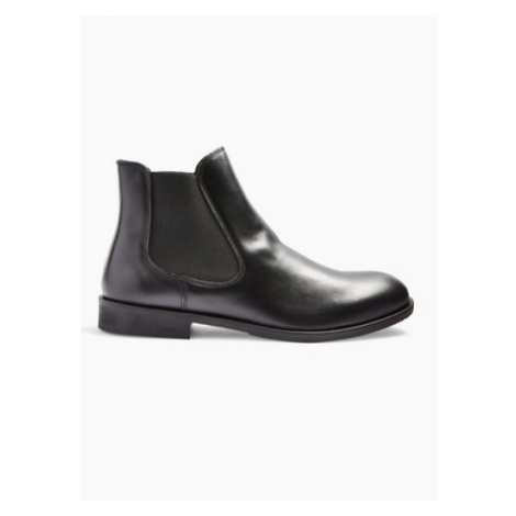 Mens Selected Homme Black Leather Louis Leather Chelsea Boot, Black