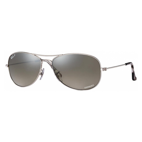 Ray-Ban Rb3562 chromance Man Sunglasses Lenses: Gray Polarized, Frame: Silver - RB3562 003/5J 59
