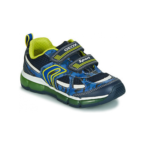 Geox J ANDROID BOY boys's Children's Shoes (Trainers) in Blue