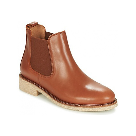 Bensimon BOOTS CREPE women's Mid Boots in Brown