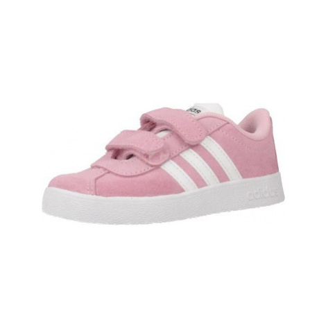 Adidas VL COURT 2.0 CMF I girls's Children's Shoes (Trainers) in Pink