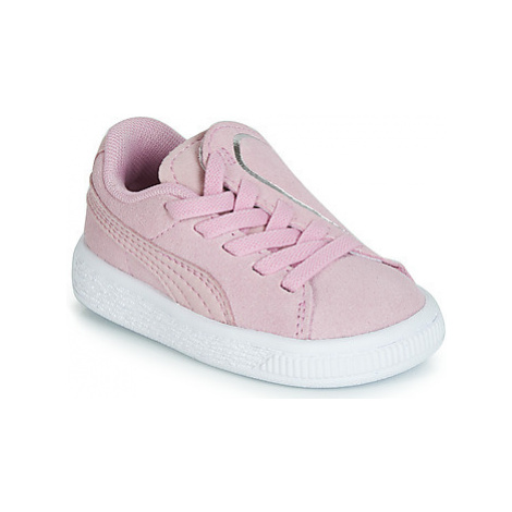 Puma INF SUEDE CRUSH AC.LILAC girls's Children's Shoes (Trainers) in Pink