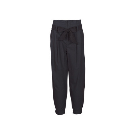 Maison Scotch LONG BLACK PANT women's Trousers in Black Scotch & Soda
