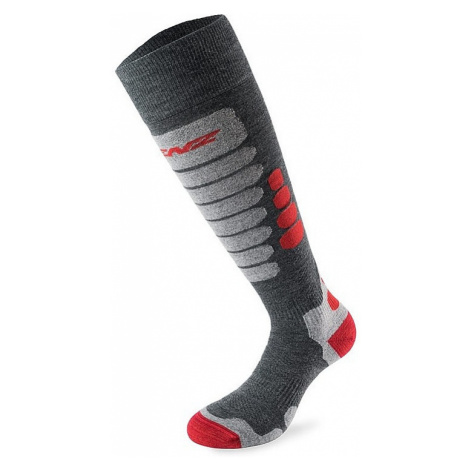 socks Lenz Skiing 3.0 - Anthracite/Red