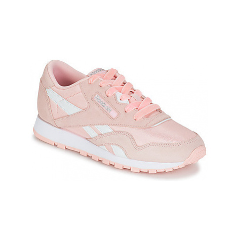 Reebok Classic CL NYLON girls's Children's Shoes (Trainers) in Pink
