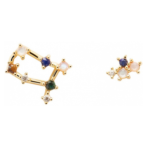 P D PAOLA Gold Plated Gemini Constellation Earrings