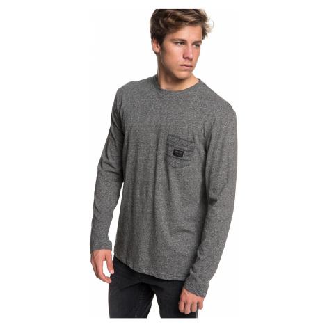 T-Shirt Quiksilver SHD Knit Top 1 LS - KRPH/Dark Gray Heather - men´s
