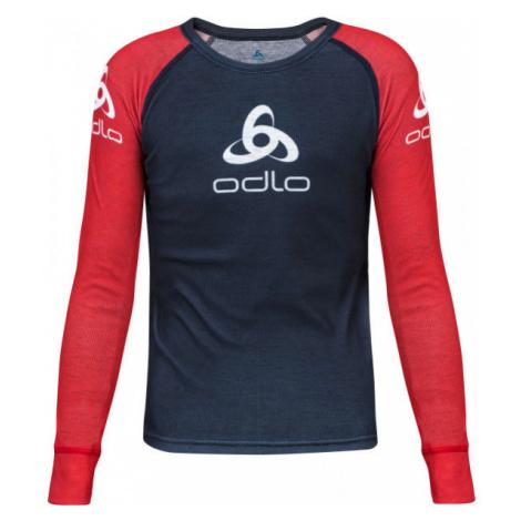 Odlo SUW KID'S TOP CREW NECK L/S ORIGINALS LIGHT red - Children's T-shirt