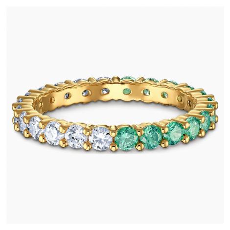 Vittore Half Ring, Green, Gold-tone plated Swarovski