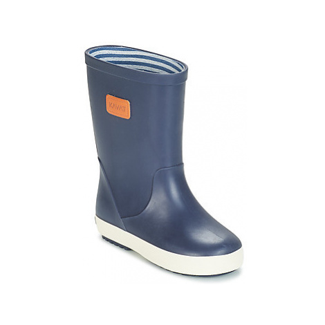 Kavat SKUR girls's Children's Wellington Boots in Blue