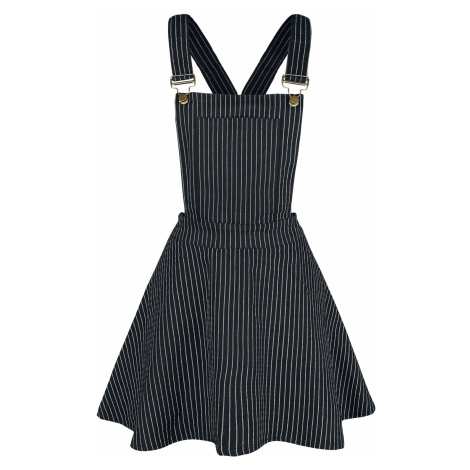 Jawbreaker - Over It All Pinstripe Overall Dress - Dress - black-white