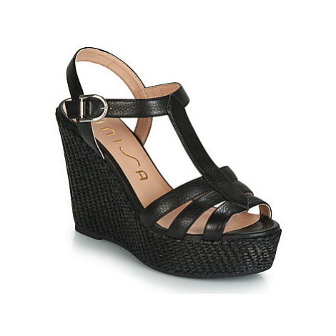 Unisa MACA women's Sandals in Black