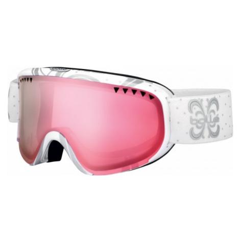 Bolle Scarlet white - Modern women's downhill ski goggles