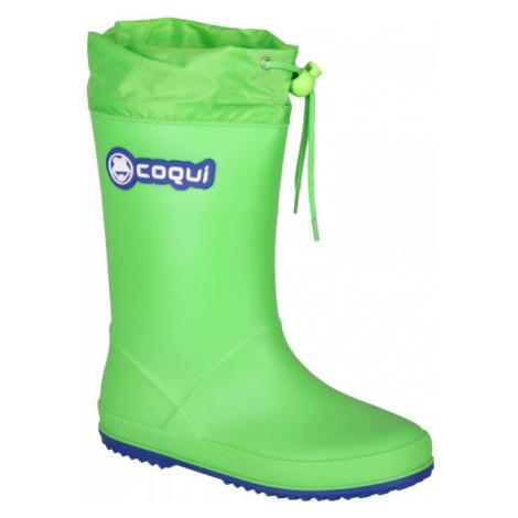 Coqui RAINY COLLAR green - Children's wellies
