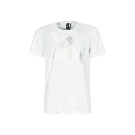 Adidas MH BOS FOIL TEE men's T shirt in White