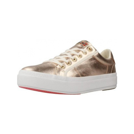Napapijri ASTRID women's Shoes (Trainers) in Gold