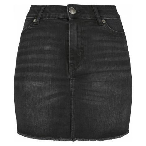 Urban Classics - Ladies Denim Skirt - Mini skirt - black