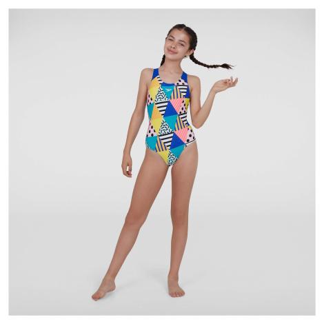 Kids Junior DazzleBloc Splashback Swimsuit Speedo