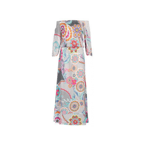 Desigual DERA women's Long Dress in White