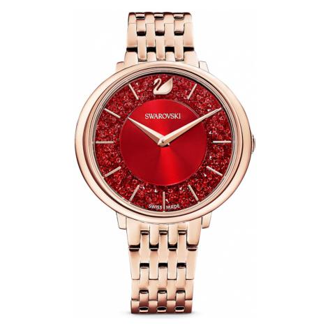 Crystalline Chic Watch, Metal bracelet, Red, Rose-gold tone PVD Swarovski