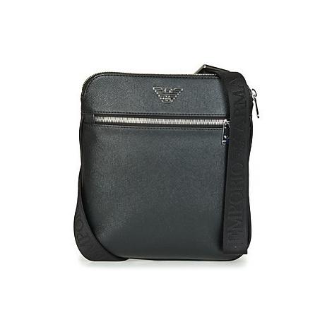 Emporio Armani BUSINESS FLAT MESSENGER BAG men's Pouch in Black