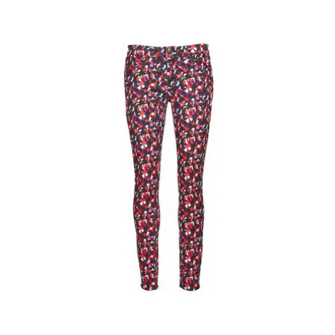 American Retro COLINE women's Skinny Jeans in Multicolour