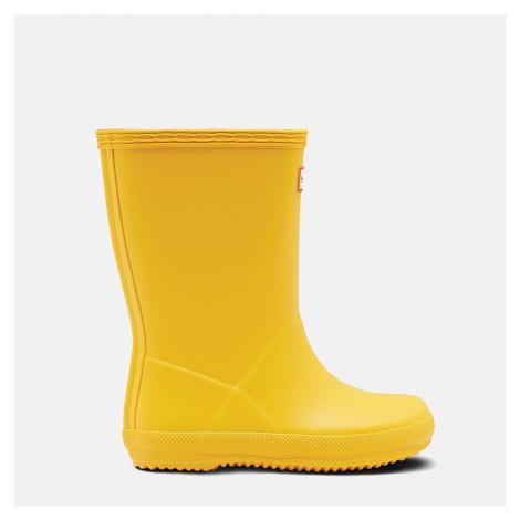 Hunter Kids' First Classic Wellington Boots - Yellow - UK Kids