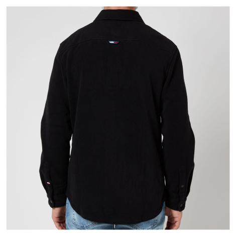 Tommy Jeans Men's Polar Fleece Shirt - Black Tommy Hilfiger
