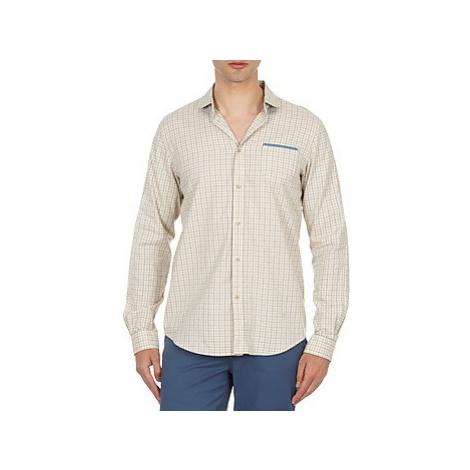 Ben Sherman BEMA00509 men's Long sleeved Shirt in Beige