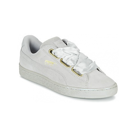 Puma BASKET HEART SATIN WN'S women's Shoes (Trainers) in Grey