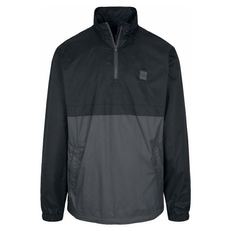 Urban Classics - Stand Up Collar Pull Over Jacket - Windbreaker - black-charcoal