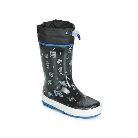 Gioseppo ROSTOCK boys's Children's Wellington Boots in Black