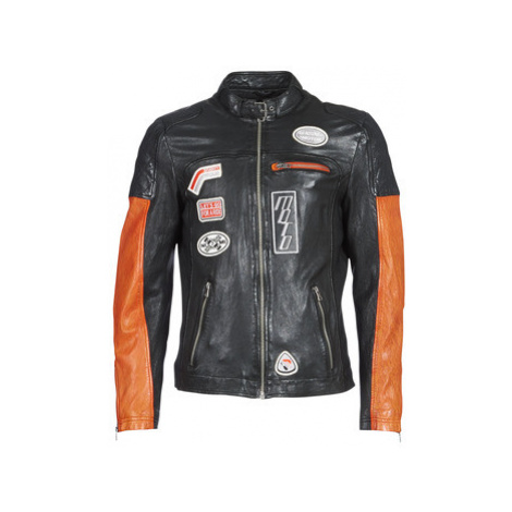 Oakwood INDIE men's Leather jacket in Black