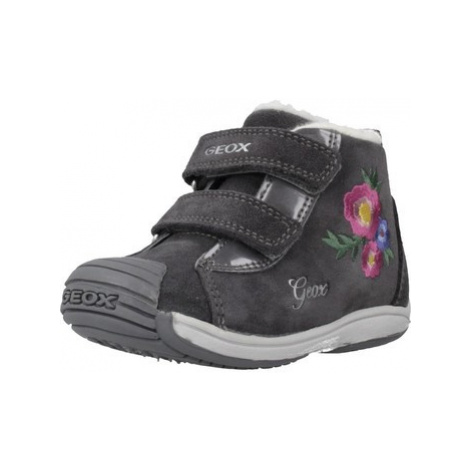 Geox B TOLEDO G girls's Children's Shoes (High-top Trainers) in Grey