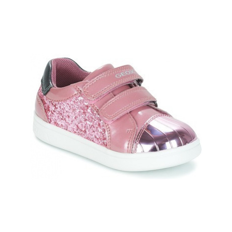 Geox B DJROCK GIRL girls's Children's Shoes (Trainers) in Pink