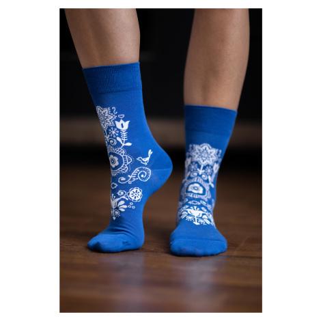 Barefoot Socks - Crew - Folk - Blue 43-46