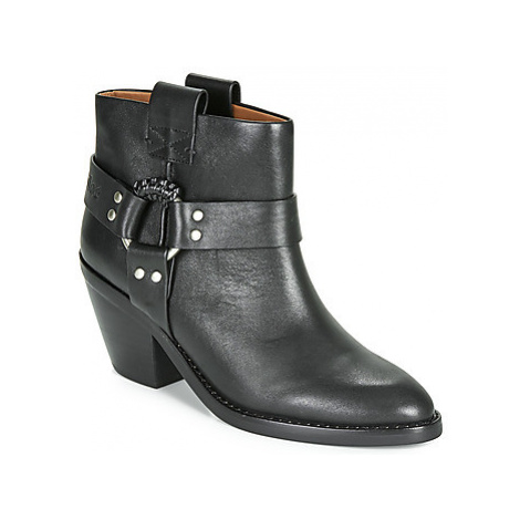 See by Chloé FEDDIE women's Low Ankle Boots in Black