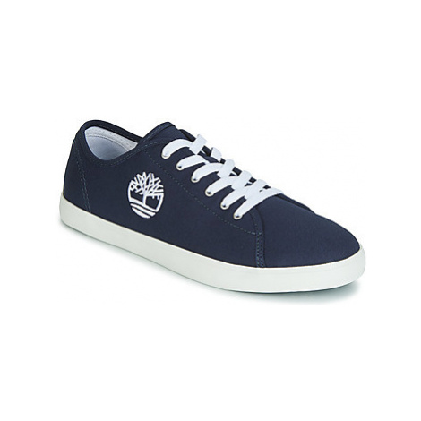 Timberland NEWPORT BAY CANVAS OX girls's Children's Shoes (Trainers) in Blue