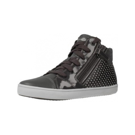 Geox J GISLI G C girls's Children's Shoes (High-top Trainers) in Grey
