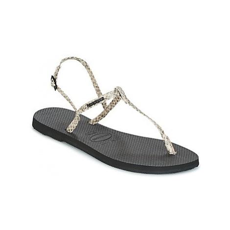Havaianas YOU RIVIERA CROCCO women's Sandals in Beige
