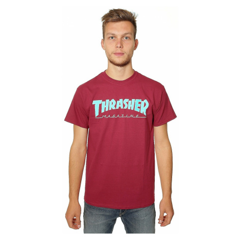 T-Shirt Thrasher Outlined - Cardinal