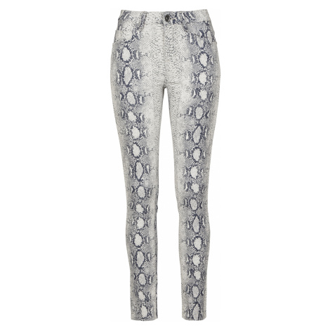 Urban Classics - Ladies Snake Stretch Twill Skinny Pants - Girls trousers - old white-grey