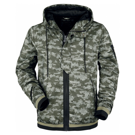 RED by EMP camouflage jacket with hood Between-seasons Jacket olive